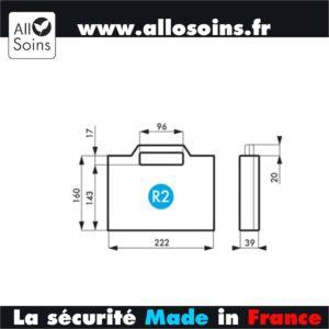 DIMENSION MALETTE VALISE DE PREMIERS SECOURS R2 - ALLOSOINS